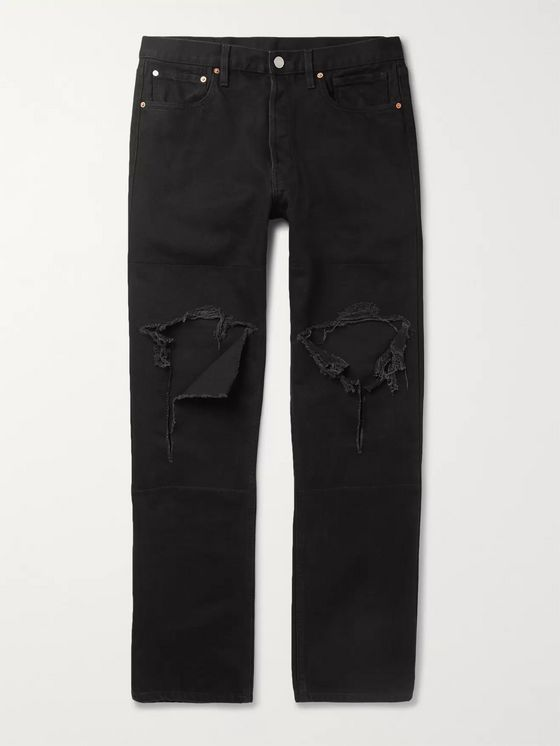 Vetements Distressed Denim Jeans