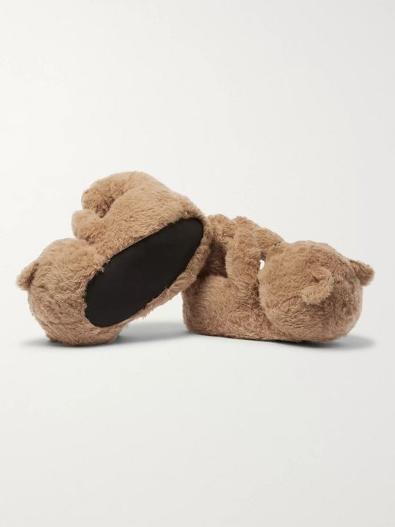 Vetements Hug Me Bear Cotton, Alpaca and Mohair-Blend Slippers