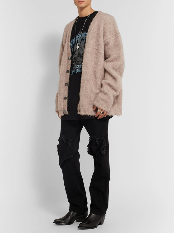 Vetements Oversized Alpaca-Blend Cardigan