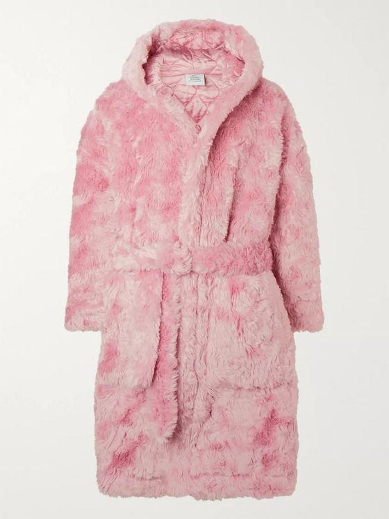 Vetements Printed Faux-Fur Coat