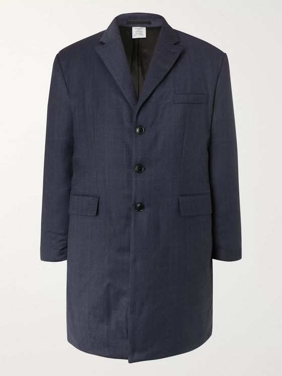 Vetements Checked Padded Virgin Wool Coat