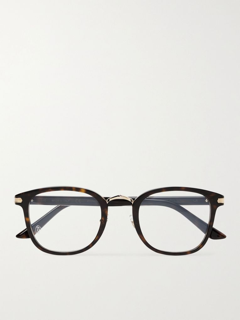 Cartier Eyewear D-Frame Tortoiseshell Acetate Optical Glasses
