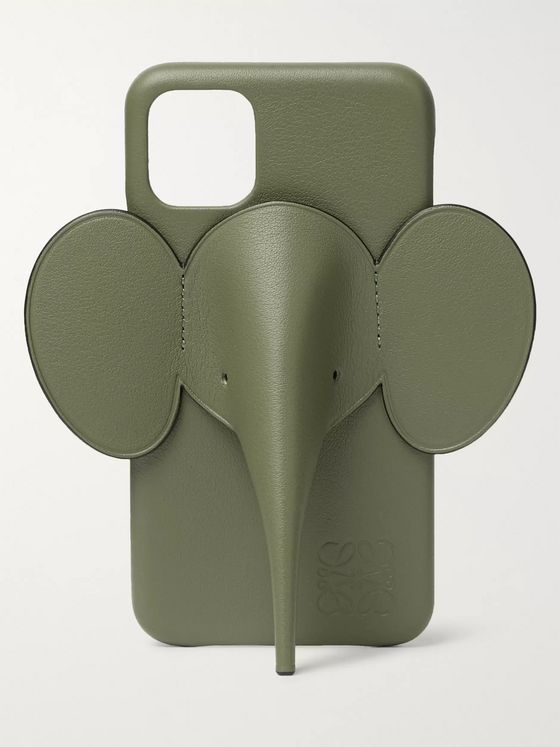 Loewe Elephant Full-Grain Leather iPhone 11 Case