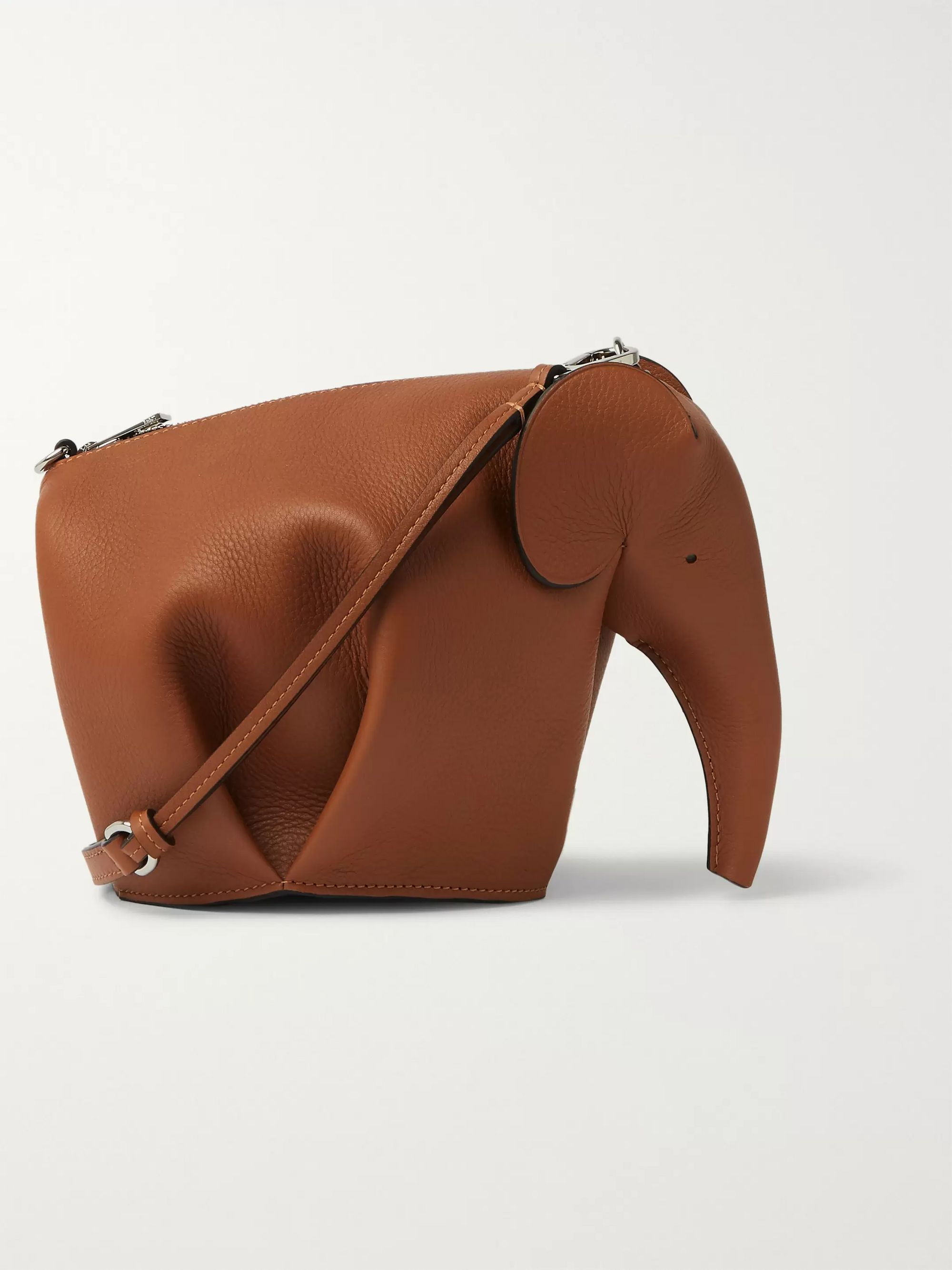 Loewe Elephant Full-Grain Leather Messenger Bag