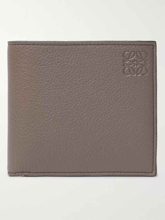 Loewe Logo-Embossed Full-Grain Leather Billfold Wallet