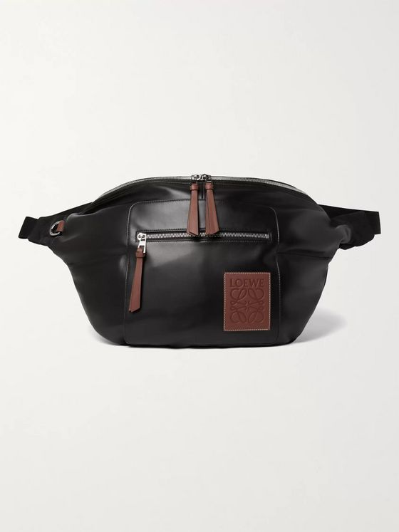 Loewe Logo-Appliquéd Leather Belt Bag