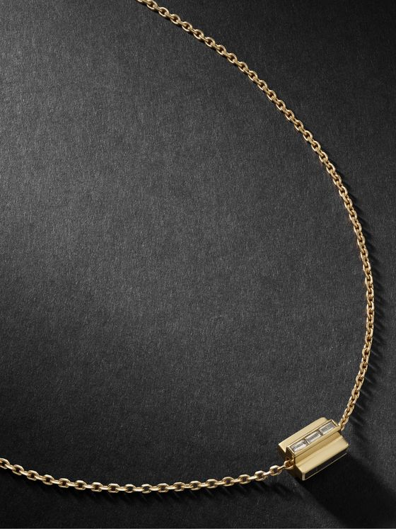 LUIS MORAIS 14-Karat Gold Diamond Necklace