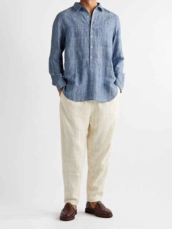11.11/eleven eleven Tapered Cotton Drawstring Trousers