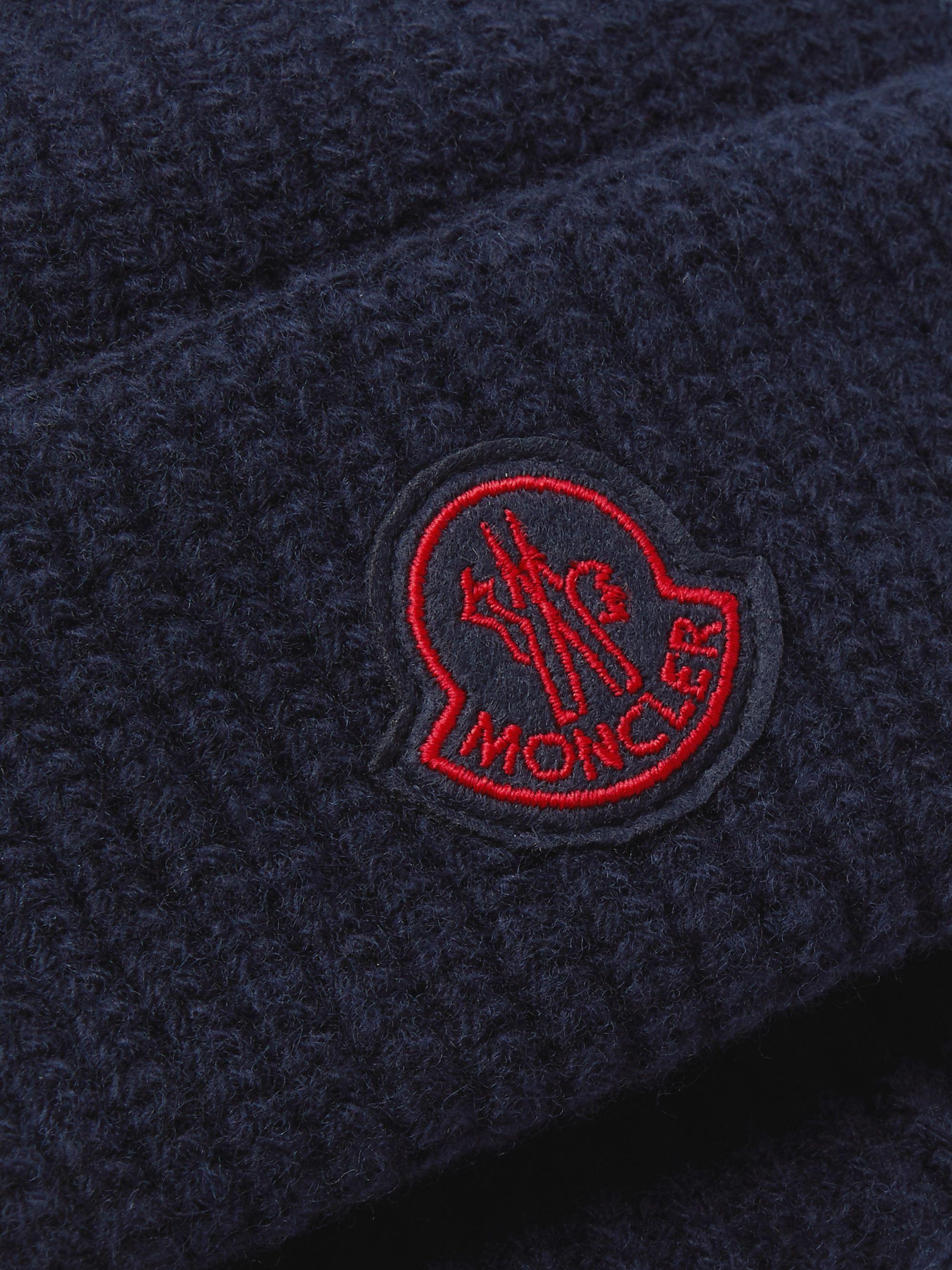 Navy Logo-appliqued Virgin Wool Beanie | Moncler Genius