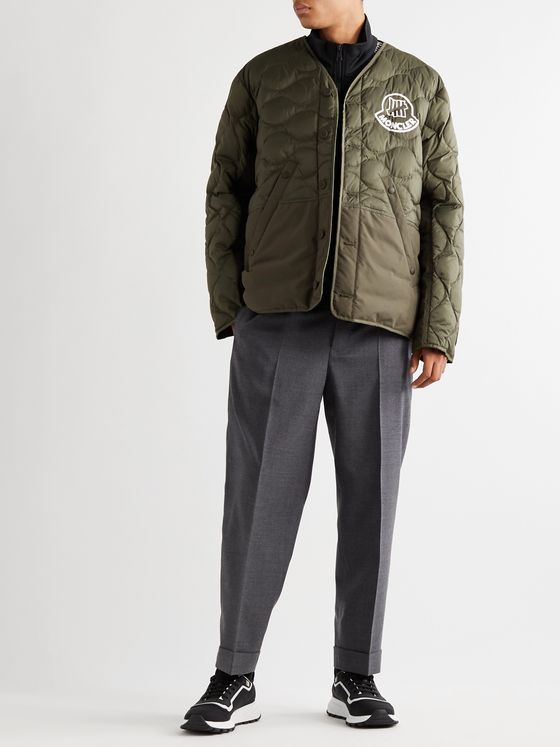 Moncler Genius + Undefeated 2 Moncler 1952 Logo-Print Cotton-Trimmed Quilted Ripstop Down Jacket