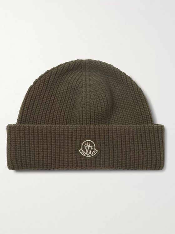 MONCLER GENIUS Logo-Appliqued Virgin Wool Beanie