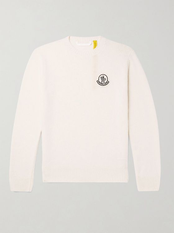 Moncler Genius Logo-Appliquéd Virgin Wool Sweater