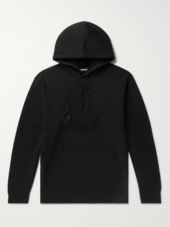 Moncler Genius + Balt Getty 2 Moncler 1952 Logo-Embellished Fleece-Back Cotton-Jersey Hoodie