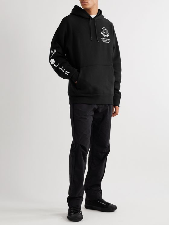 Moncler Genius + Undefeated 2 Moncler 1952 Logo-Print Fleece-Back Cotton-Jersey Hoodie