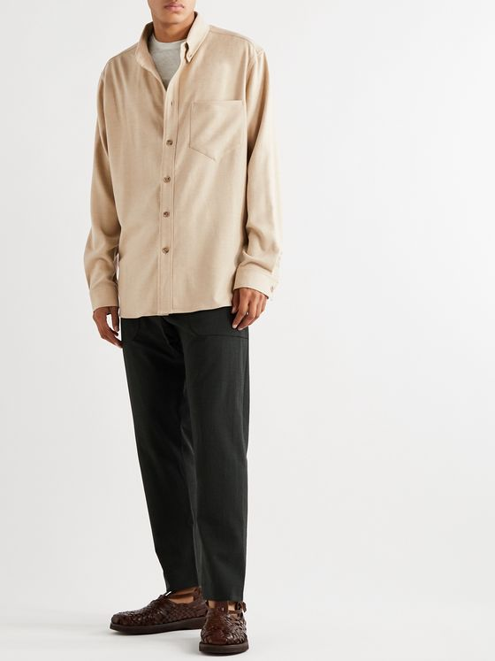 Nanushka Dome Button-Down Collar Twill Shirt