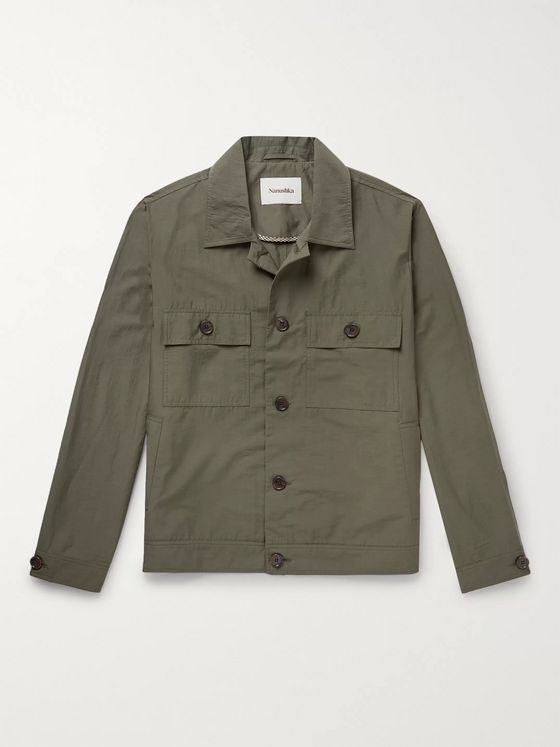 Nanushka Pax Cotton-Blend Overshirt