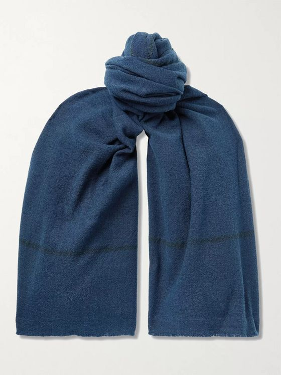 11.11/ELEVEN ELEVEN Striped Wool Scarf
