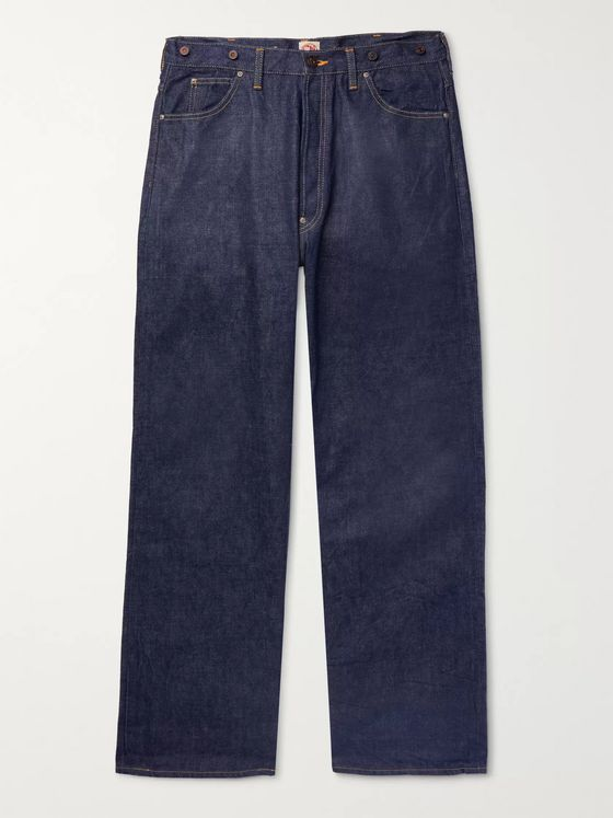 Chimala Wide-Leg Selvedge Denim Jeans