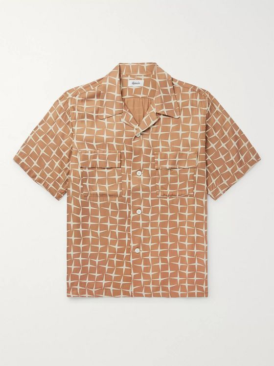 Chimala Camp-Collar Printed Twill Shirt