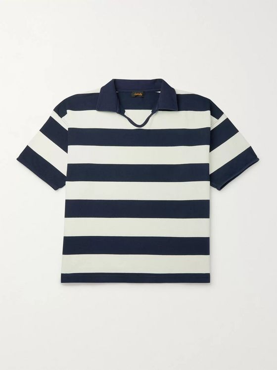 Chimala Striped Cotton-Jersey Polo Shirt
