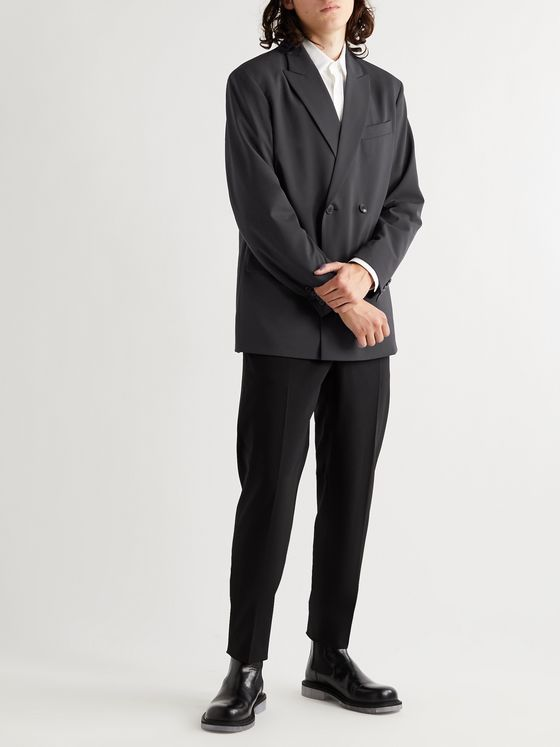 Valentino Double-Breasted Woven Blazer