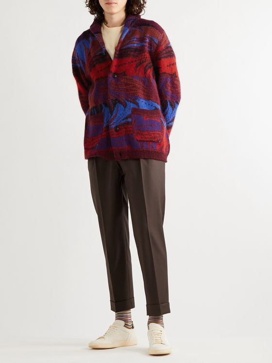 Missoni Shawl-Collar Wool-Blend Jacquard Cardigan