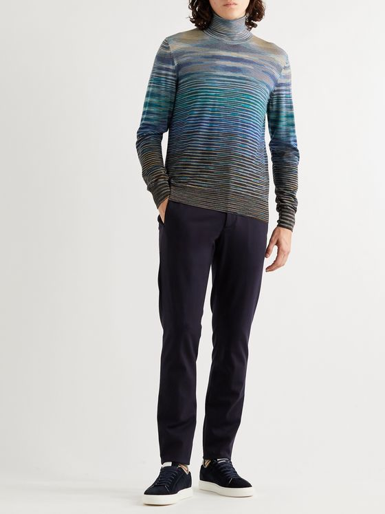 Missoni Space-Dyed Wool-Blend Rollneck Sweater