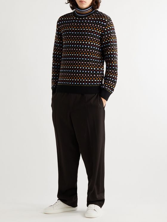 Missoni Intarsia Wool Rollneck Sweater