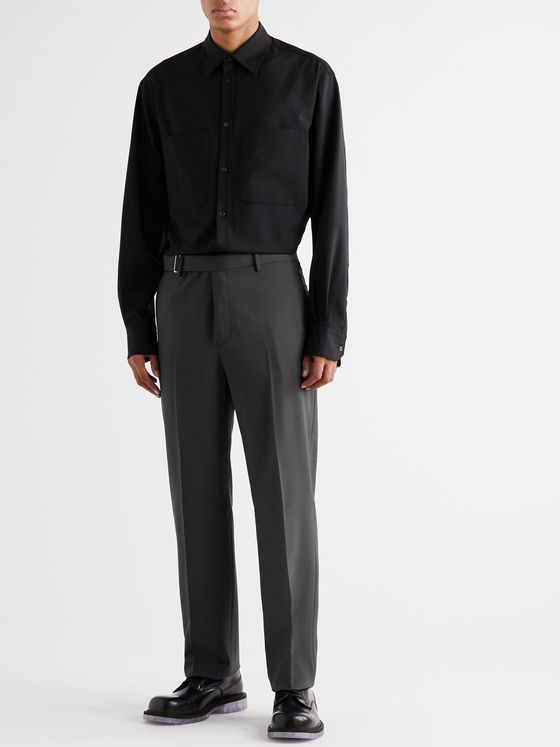 Valentino Belted Woven Trousers