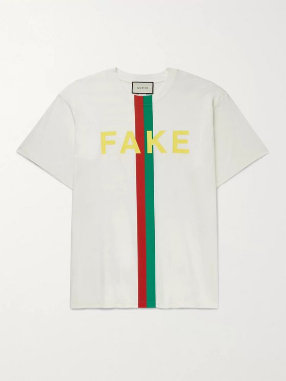 GUCCI Oversized Printed Cotton-Jersey T-Shirt