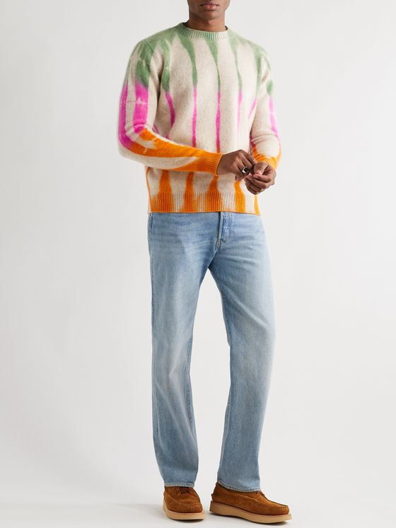 The Elder Statesman Tie-Dyed Cashmere Sweater