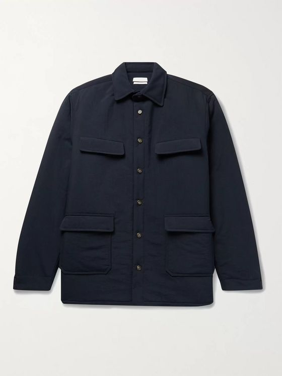 DEVEAUX Luca Padded Nylon Shirt Jacket