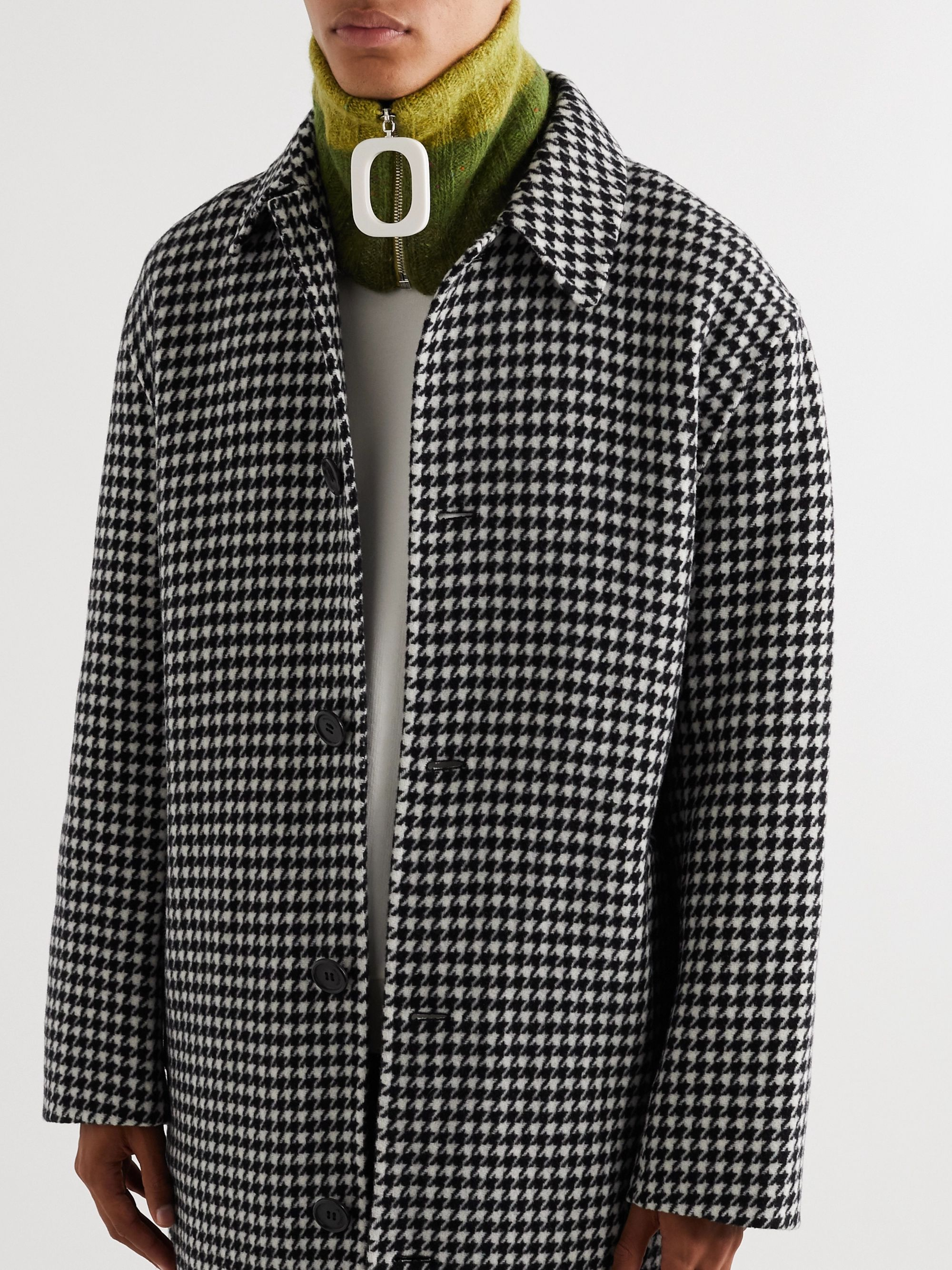 JW Anderson Striped Mélange Wool and Mohair-Blend Zip-Up Snood