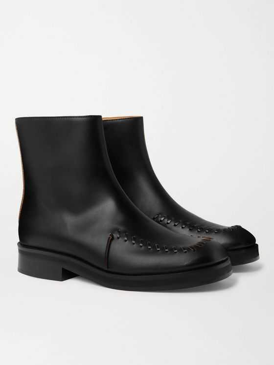JW ANDERSON Whipstitched Leather Chelsea Boots