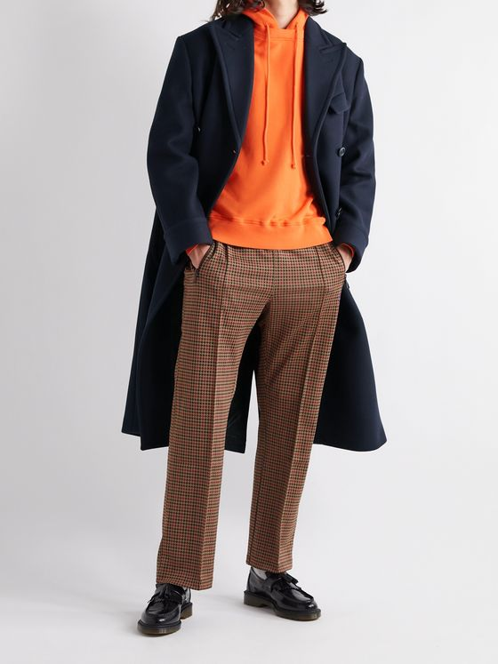 4SDesigns Double-Breasted Melton Wool-Blend Coat