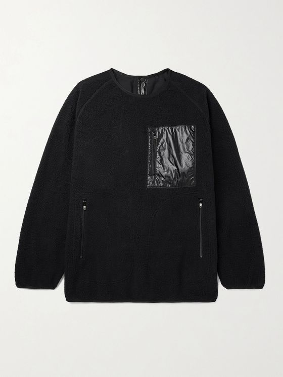 TAKAHIROMIYASHITA TheSoloist. Shell-Panelled Fleece Jacket