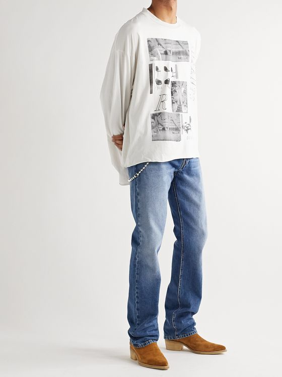 Enfants Riches Déprimés Oversized Printed Cotton-Jersey T-Shirt