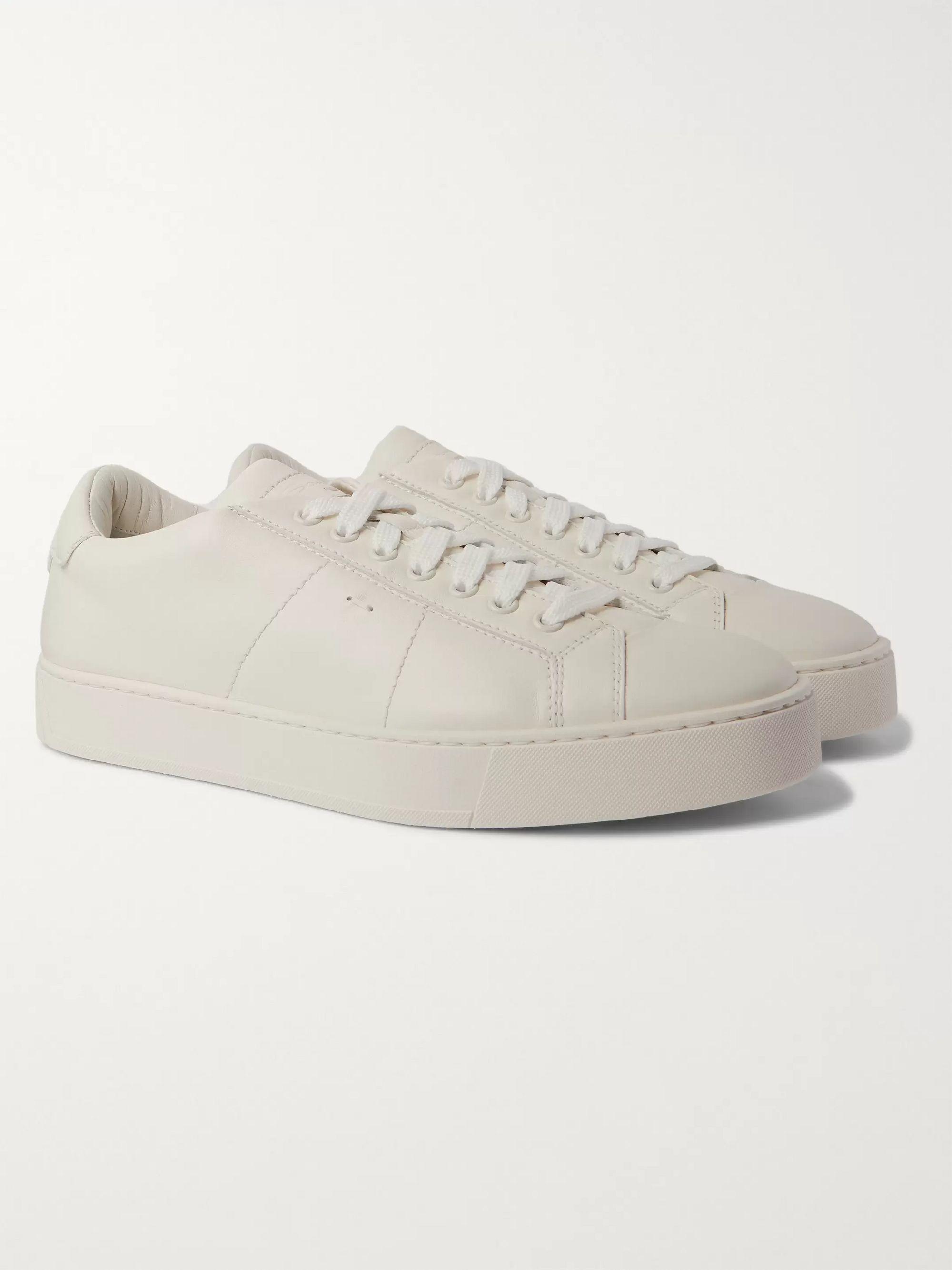 Leather Sneakers   Santoni   MR PORTER