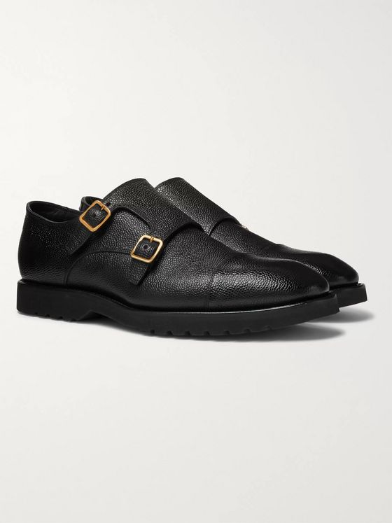 TOM FORD Pebble-Grain Leather Monk-Strap Shoes