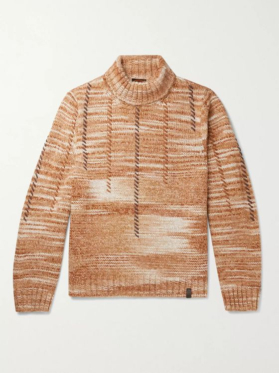 Tod's Embroidered Knitted Rollneck Sweater