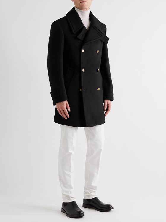 DUNHILL Wool and Cashmere-Blend Peacoat