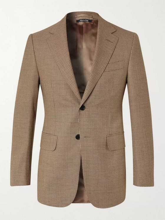 Dunhill Slim-Fit Houndstooth Wool Blazer