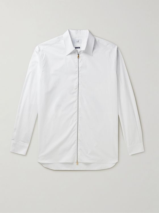 Dunhill Cotton Zip-Up Shirt