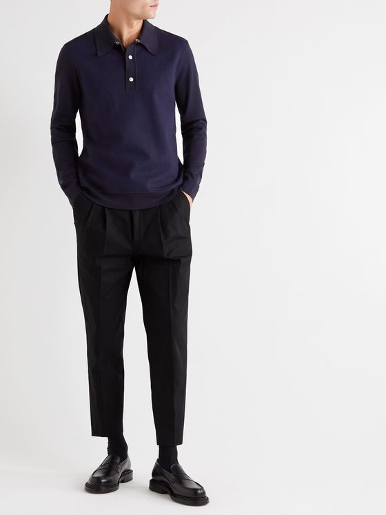 Dunhill Panelled Wool Polo Shirt