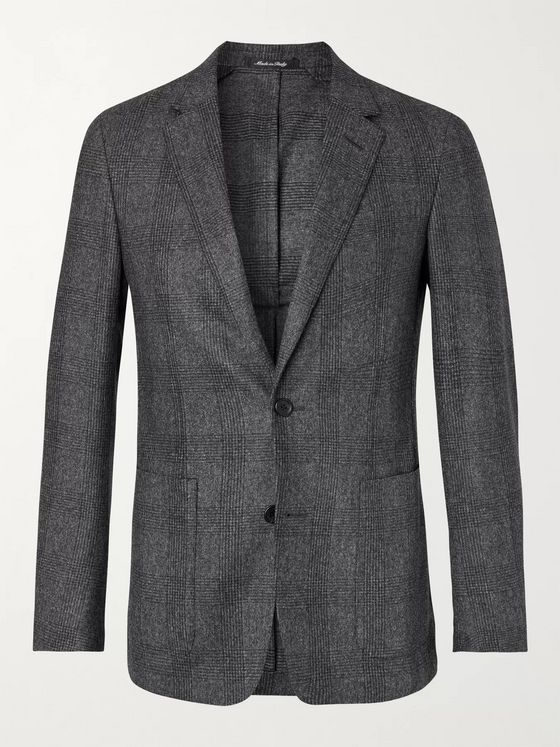 Dunhill Slim-Fit Prince of Wales Checked Wool Blazer