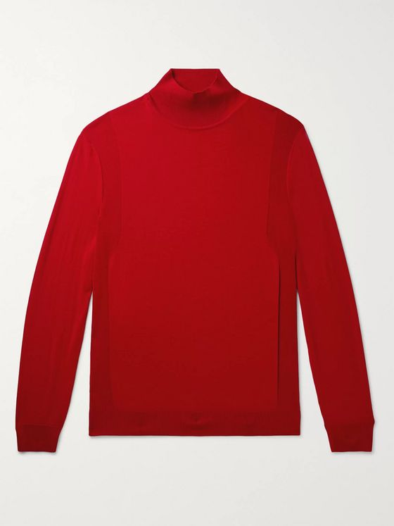 Dunhill Slim-Fit Wool Rollneck Sweater