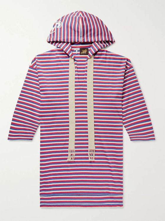 Loewe + Paula's Ibiza Striped Cotton Hooded Tunic