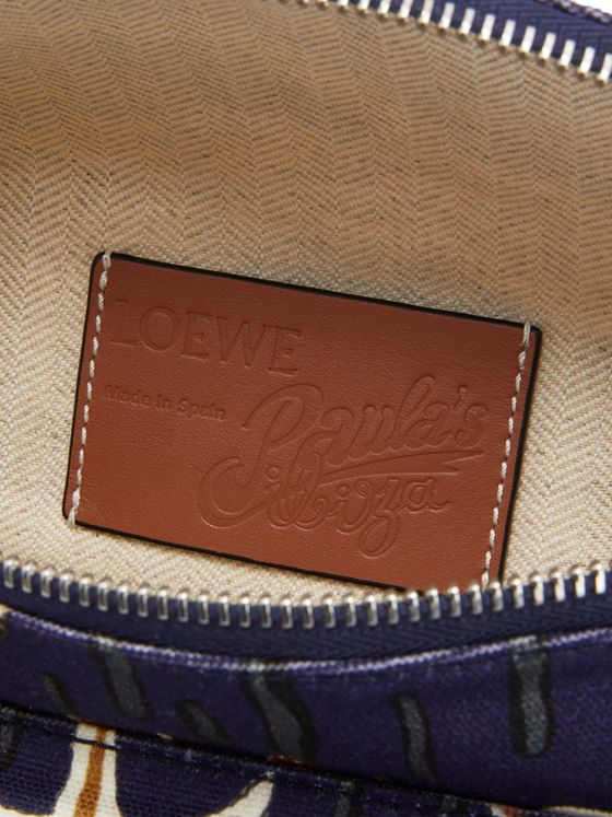 Loewe + Paula's Ibiza Printed Leather-Trimmed Canvas Belt Bag