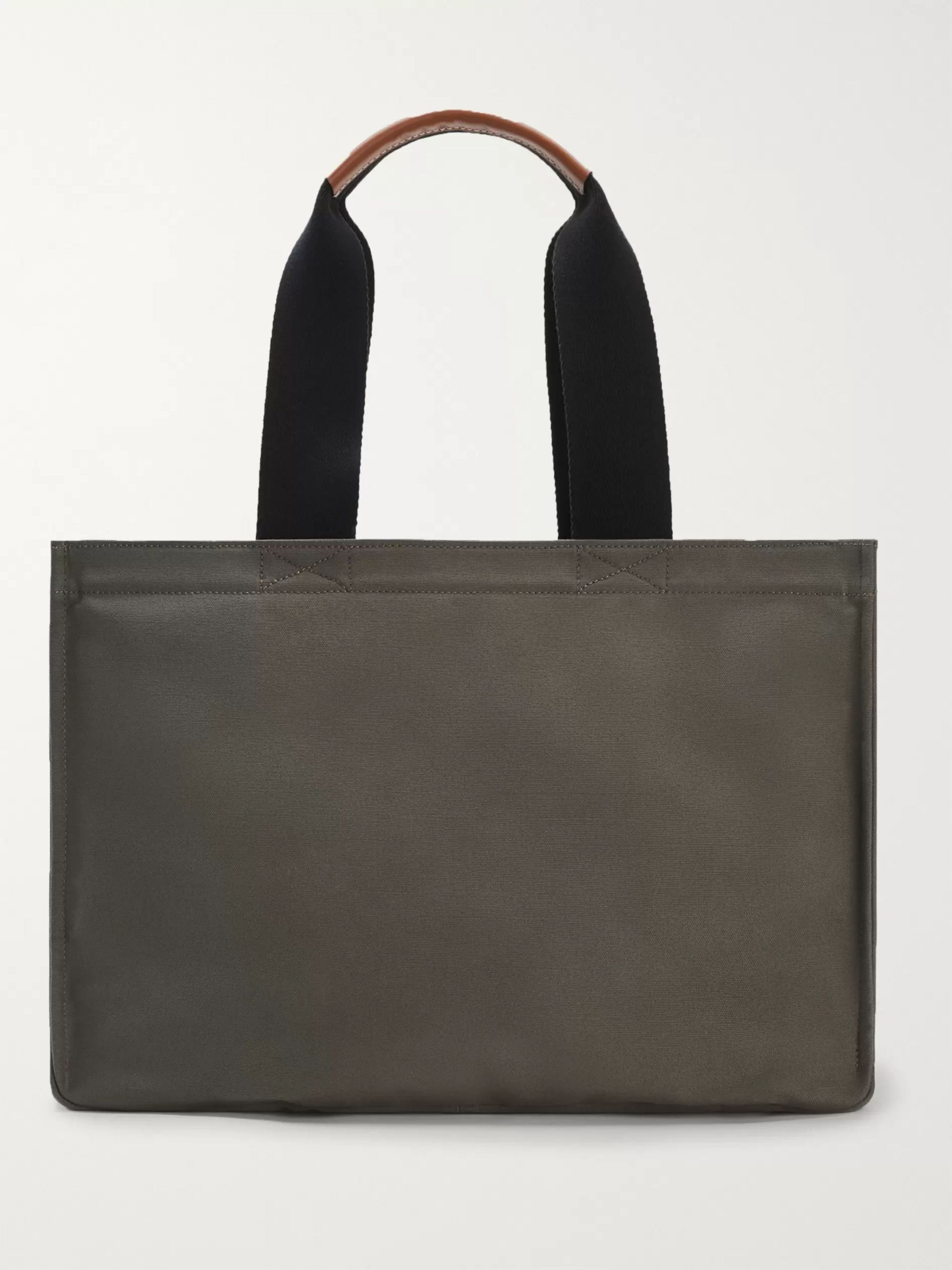 Loewe + Paula's Ibiza Logo-Appliquéd Leather-Trimmed Canvas Tote Bag