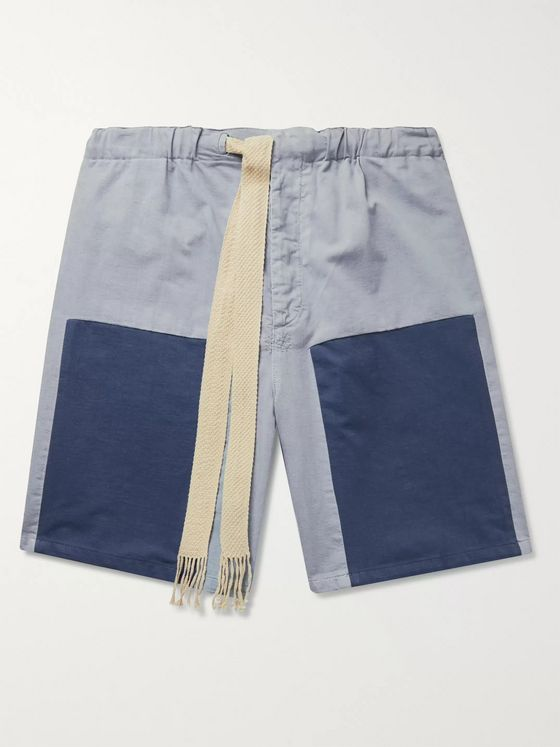 LOEWE + Paula's Ibiza Colour-Block Cotton Drawstring Shorts